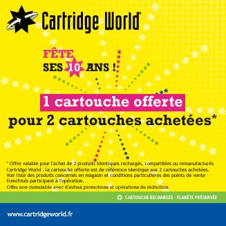 Promotion anniversaire Cartridge World Saint-Nazaire